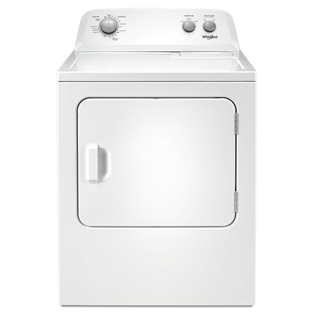7.0 cu. ft. Top Load Electric Dryer with AutoDry Drying System in White