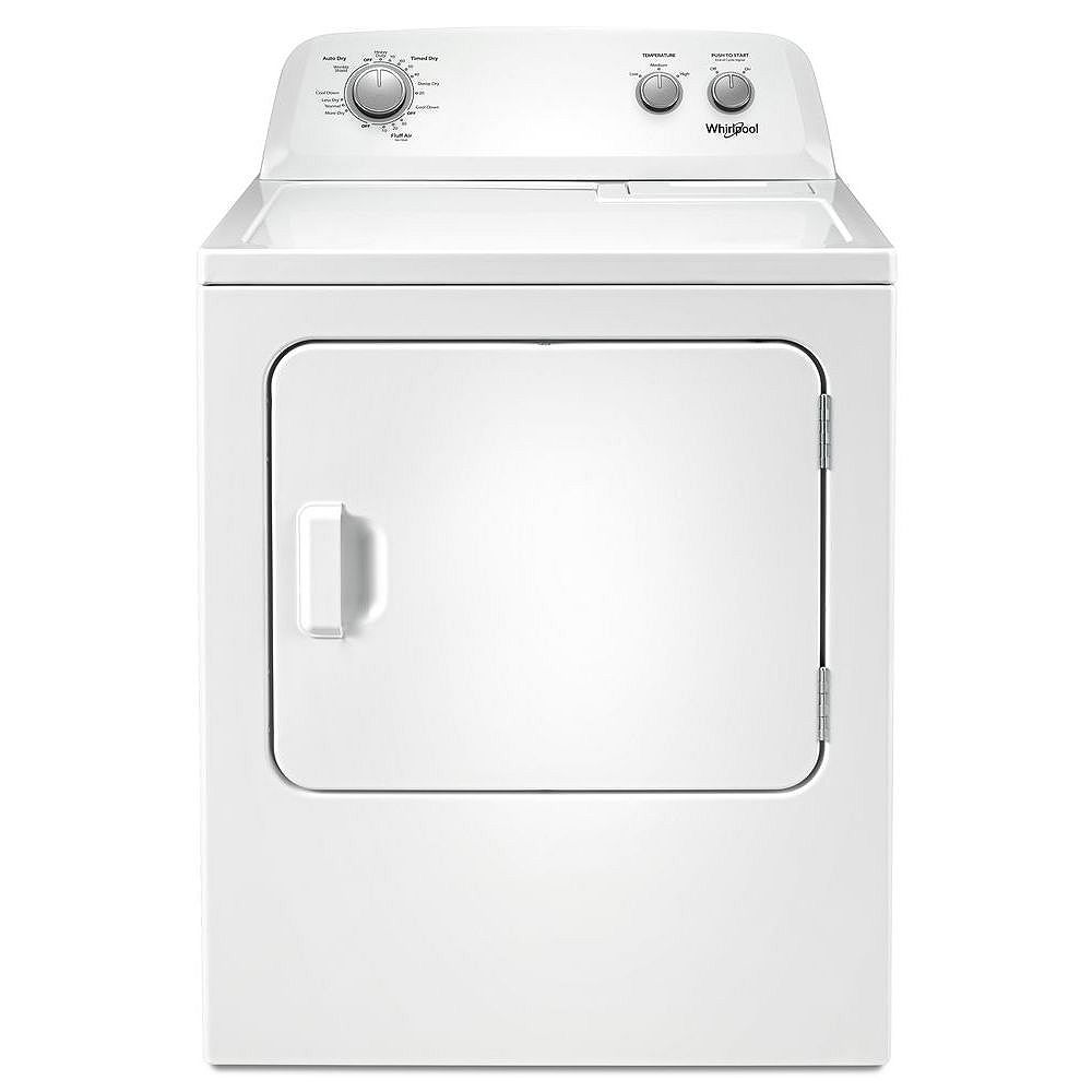 Whirlpool 7.0 cu. ft. Front Load Electric Dryer with AutoDry Drying System in White
