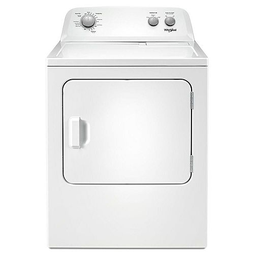 7.0 cu. ft. Front Load Electric Dryer with AutoDry Drying System in White