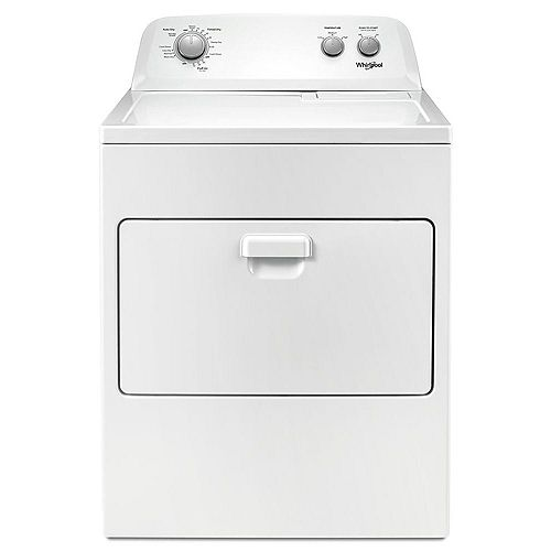7.0 cu. ft. Top Load Gas Dryer with AutoDry Drying System in White