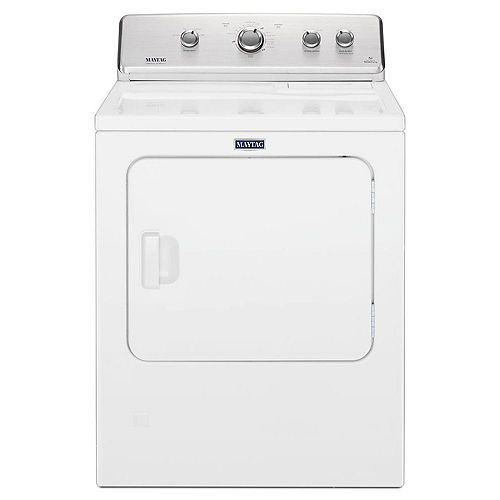 7.0 cu. ft. Large Capacity Front Load Dryer with Wrinkle Control in White