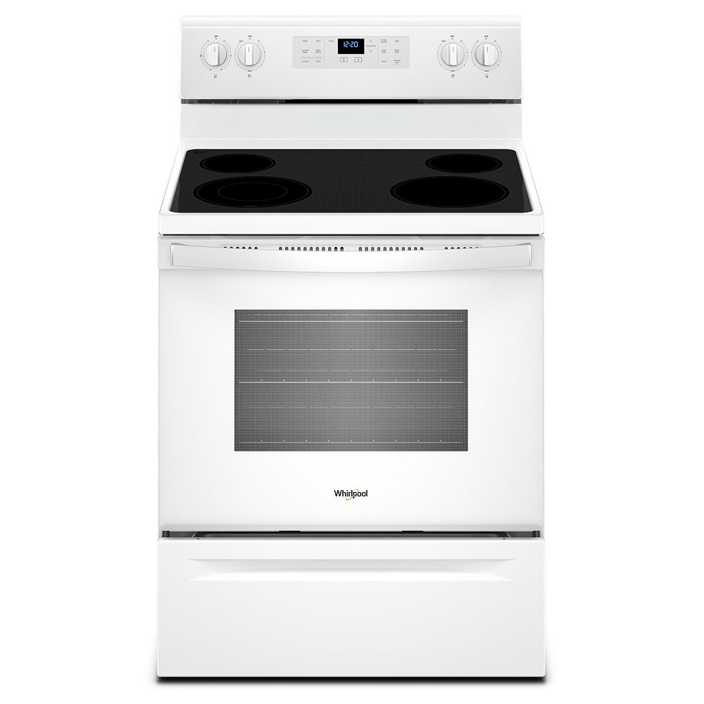 Whirlpool 5.3 cu. ft. Electric Range with Self-Cleaning Oven in White