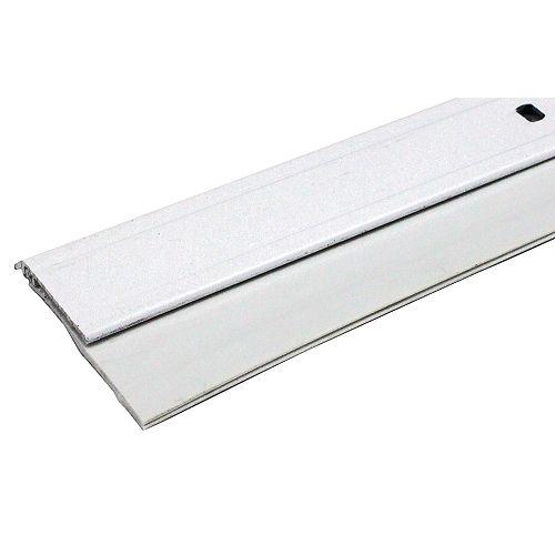 3/4po x 36po Coupe-froid en aluminium et vinyle pour bas de porte - Blanc