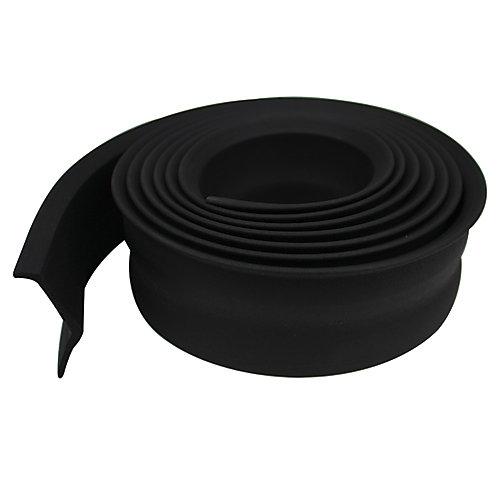 2po x 16pi Bas de porte de garage de rechange en caoutchouc de première qualité - Noir