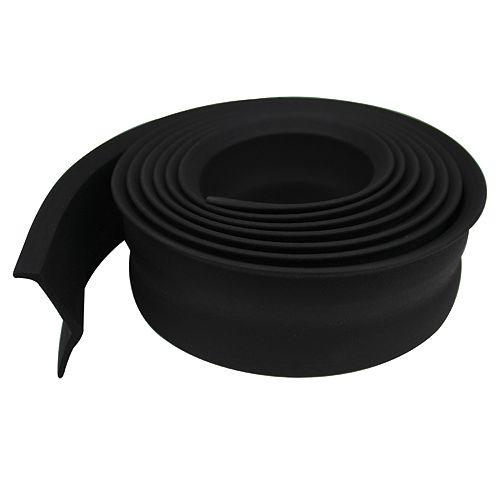 2-inch x 16-ft. Preminum Rubber Replacement Weather Seal Garage Door Bottom Black