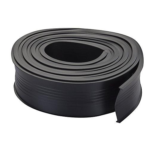 9pi  Bas de porte de garage universel de rechange en vinyle - Noir