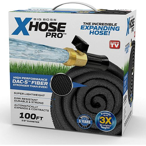 Pro 5/8-inch Dia. x 100 ft. Dac-5 High Performance Lightweight Expandable Garden Hose