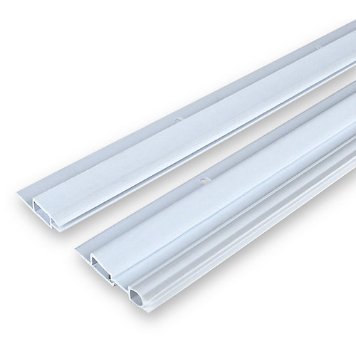 2x 82po et 1x 36po Ensemble de coupe-froid en vinyle à ressort pour haut et côtés de  montant de porte - Blanc