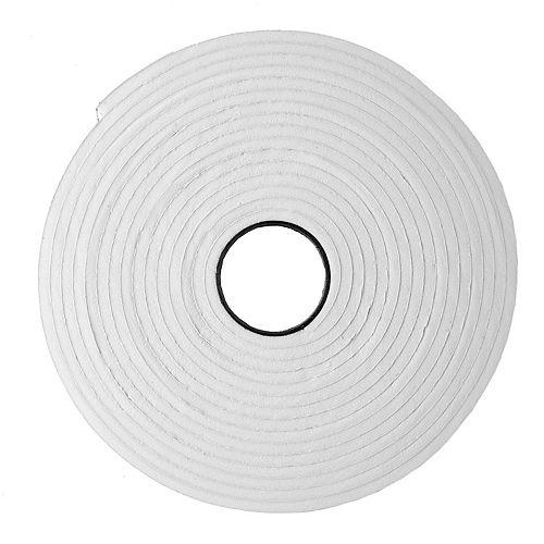 3/16po x 3/8po x 17pi Ruban de mousse à haute densité pour très petites fissures - Blanc