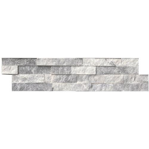 Alaska Gray Ledger Panel 6-inch x 24-inch Split-Face Marble Wall Tile (60 sq. ft. / pallet)