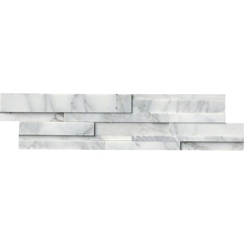 MSI Stone ULC Calacatta Cressa 3D Ledger Panel 6-inch x 24-inch Honed Marble Wall Tile (60 sq.ft./pallet)