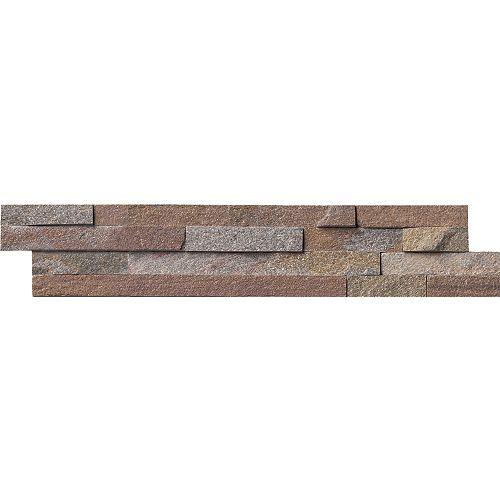 MSI Stone ULC Carreaux de quartzite naturel pour murs Amber Falls en panneaux de 6 po x 24 po (60 pi ca/palette)