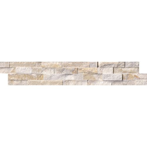 MSI Stone ULC Panneau de carreaux muraux à face éclatée, 6 po x 24 po, 60 pi2/palette, or arctique, quartzite