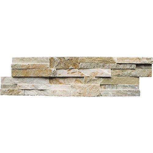 Panneau de carreaux muraux, 6 po x 24 po, 30 pi2/palette, miel doré, quartzite naturel