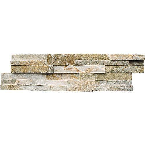 Golden Honey Ledger Panel 6-inch x 24-inch Natural Quartzite Wall Tile (30 sq. ft. / pallet)