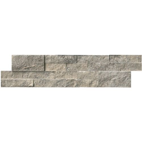 Silver Travertine Ledger Panel 6-inch x 24-inch Wall Tile (60 sq. ft. / Pallet )