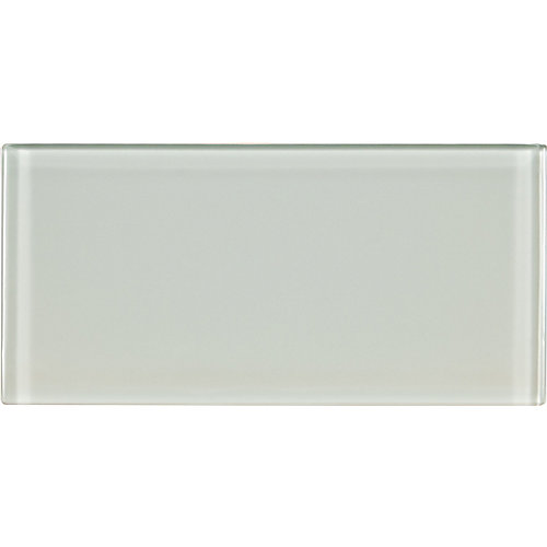 Arctic Ice 3-inch x 6-inch Glass Wall Tile (1 sq. ft. / case)