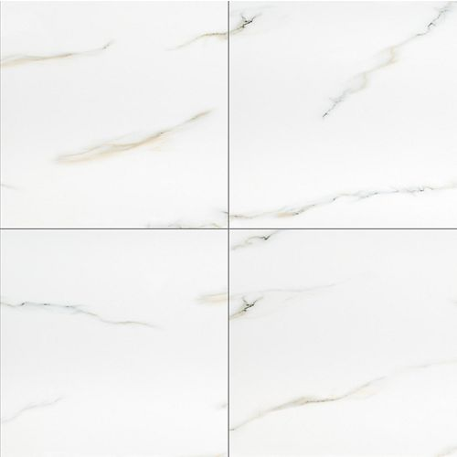 Aria Bianco 24-inch x 24-inch Polished Porcelain Floor and Wall Tile (16 sq.ft. / case)