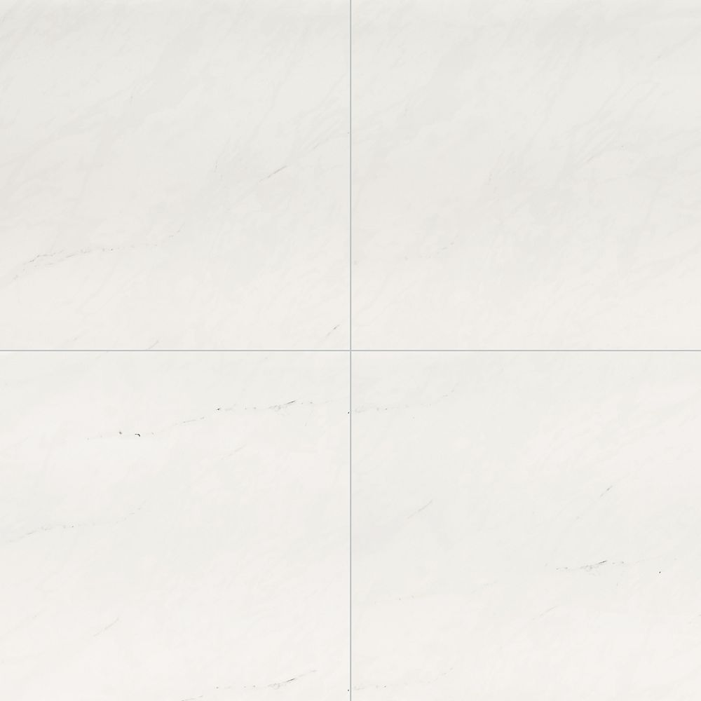 MSI Stone ULC Aria Ice 24-inch x 24-inch Polished Porcelain Floor and Wall Tile (16 sq.ft. / Case)