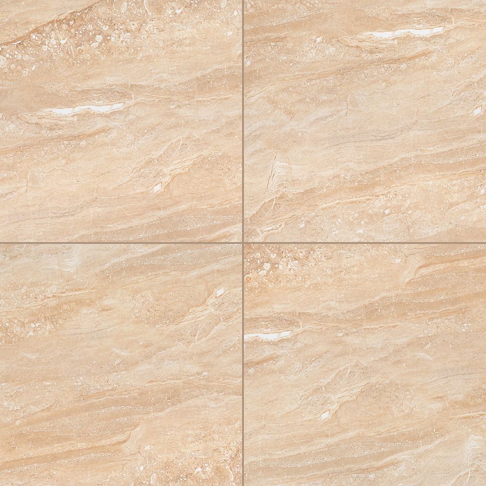 MSI Stone ULC Aria Oro 24-inch x 24-inch Polished Porcelain Floor and Wall Tile (16 sq.ft. / Case)