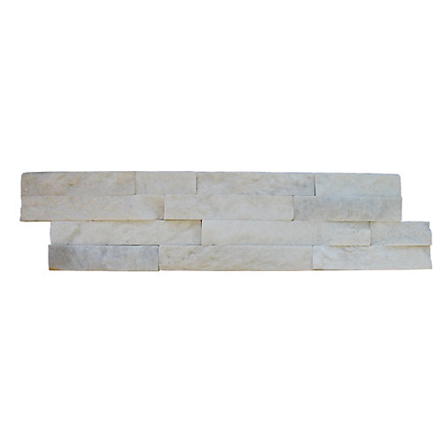 Arctic White Ledger Panel 6-inch x 24-inch Natural Marble Wall Tile (10 cases / 60 sq. ft. / pallet)
