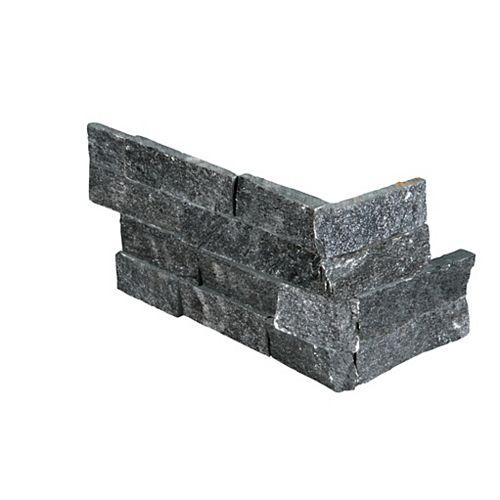 Coal Canyon Ledger Corner 6-inch x 18-inch Natural Quartzite Wall Tile (4.5 sq. ft. / Case)