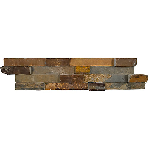 California Gold Ledger Panel 6-inch x 24-inch Natural Slate Wall Tile (20 sq. ft. / pallet)