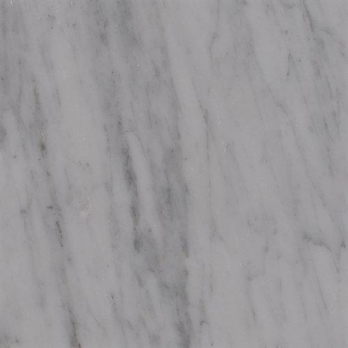 Carreaux de marbre poli pour planchers et murs Carrara White de 18 po x 18 po (11,25 pi ca/bte)
