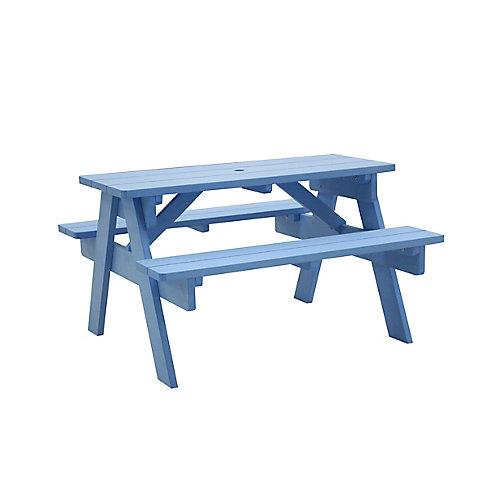 Stella Table de pique-nique pour enfants - bleu Capri