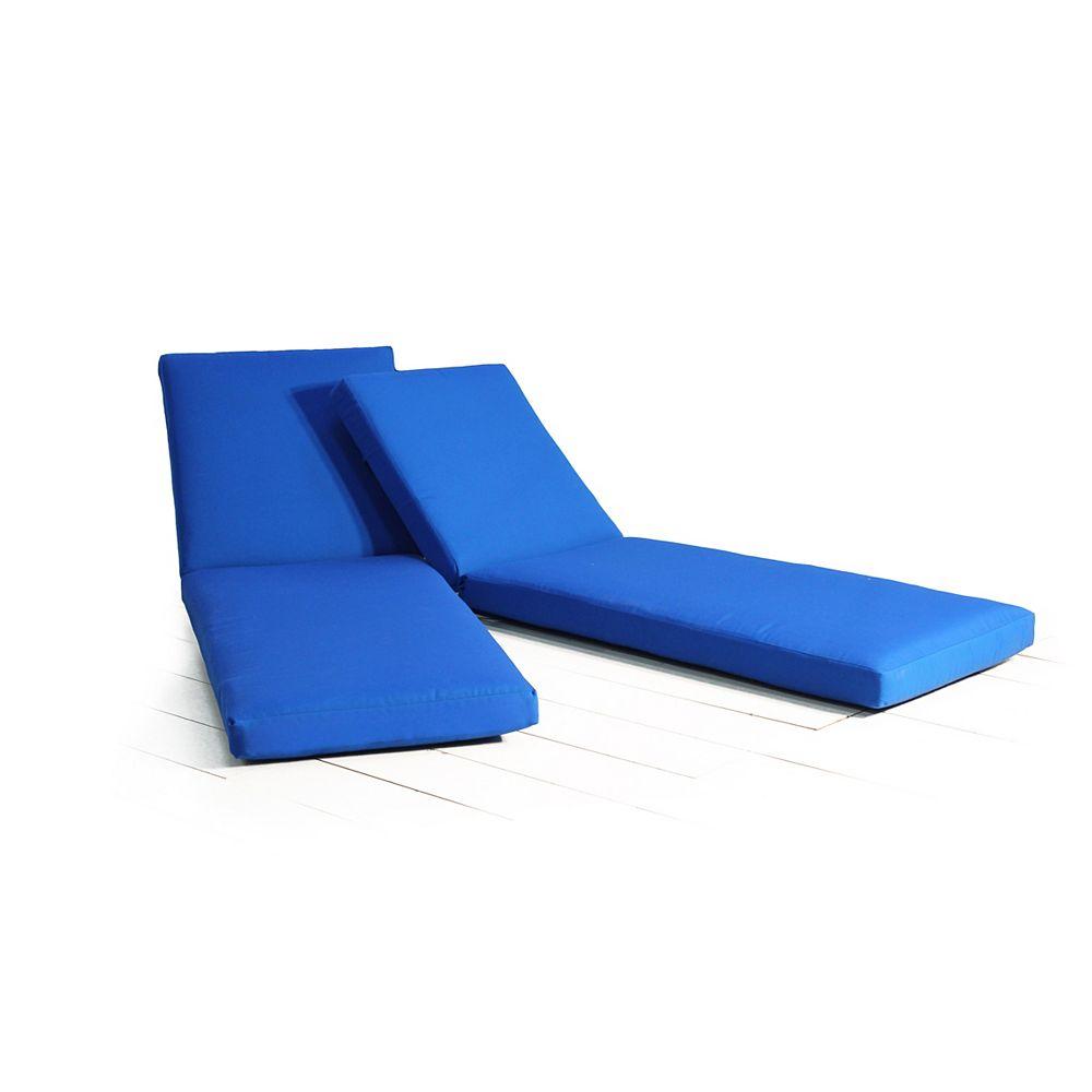 Leisure Design Chaise Lounge Cushion (2-Pack) - Pacific Blue