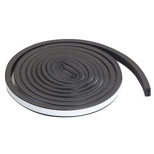 19/32-inch x 10-ft. Premium Auto And Marine Rubber Weather-Strip Black