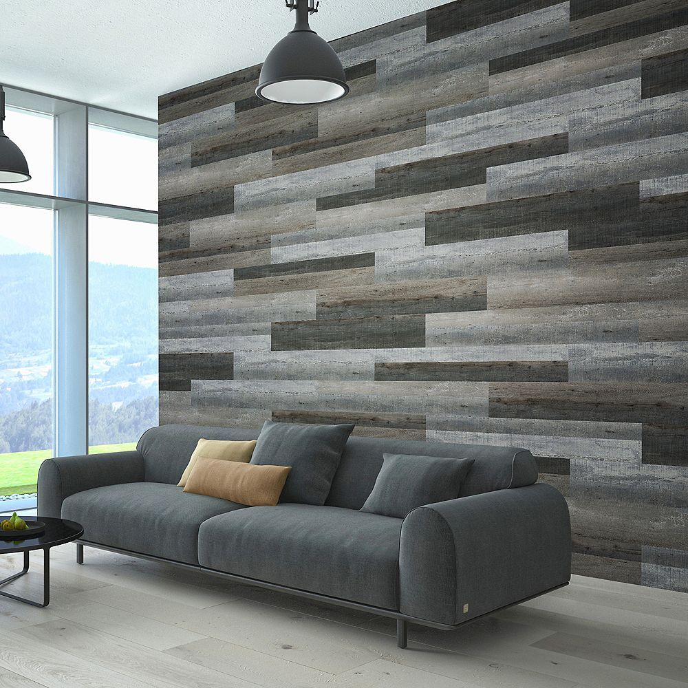 Isocore Multi Width X 47 6 Inch Night Grey Vinyl Wall Plank 39 67 Sq Ft Case The Home Depot Canada