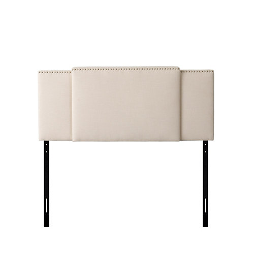 Fairfield 3-in-1 Expandable Panel Headboard, Double, Queen or King, Cream Padded Fabric