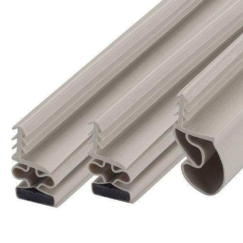 36po x 81po Coupe-froid pour haut et côtés de porte magnétique - Blanc