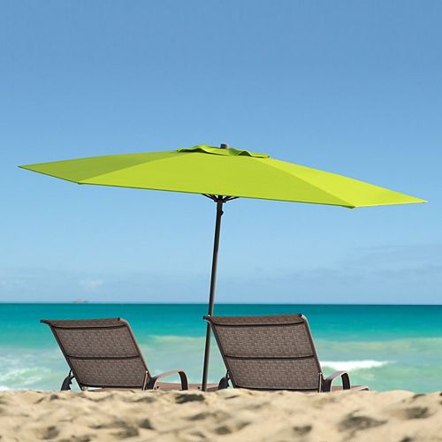 7.5 ft. UV and Wind Resistant Lime Green Beach/Patio Umbrella