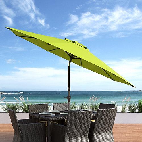 Parasol de patio/plage pivotant resistant aux UV et au vent vert lime de 10 pieds
