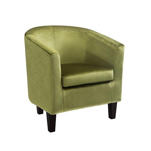 Antonio Tub Chair in Green Velvet