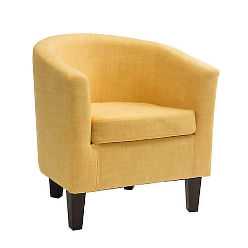 Antonio Tub Chair in Yellow Fabric