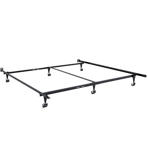 Cadre en métal ajustable pour lit de format grand et très grand