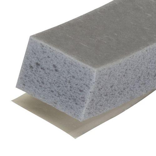 3/8po  x 1/2po x 10pi Ruban en mousse de haute densité pour fissures moyennes - Blanc