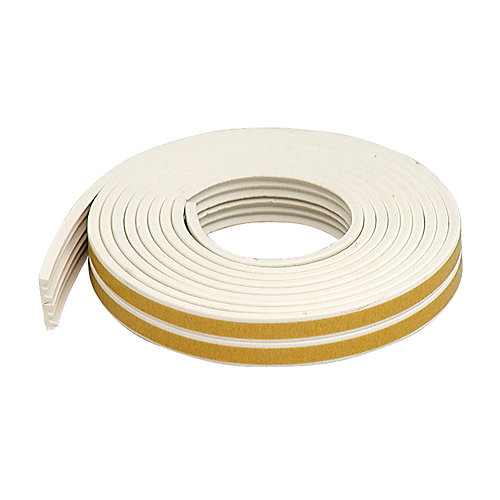 1 1/18-inch x 3/8-inch x 17-ft. Premium Extra Small Rubber Gap Seal K-Profile White