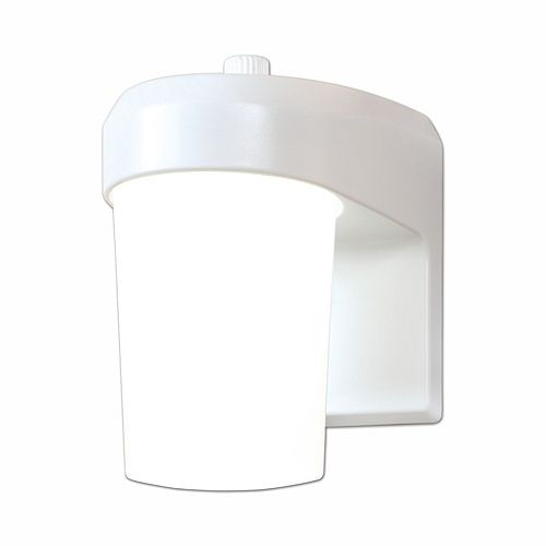 White Outdoor LED Entry and Patio Wall Mount Lantern with Dusk to Dawn Photocell Sensor