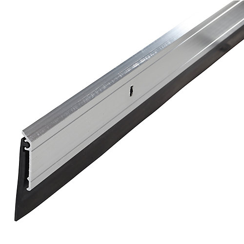 36po Bas de porte commercial de première qualité en aluminium et en caoutchouc  - Gris