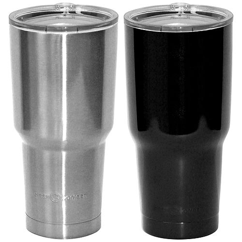 887 ml Gobelet, Noir et Argent