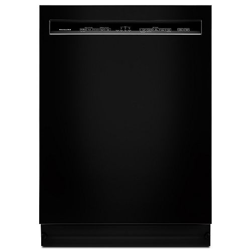 Front Control Dishwasher in Black with Stainless Steel Tub, 46 dBA