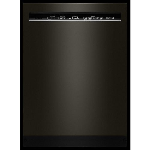 KitchenAid Front Control Dishwasher in PrintShield Black Stainless Steel with Stainless Steel Tub, 46 dBA