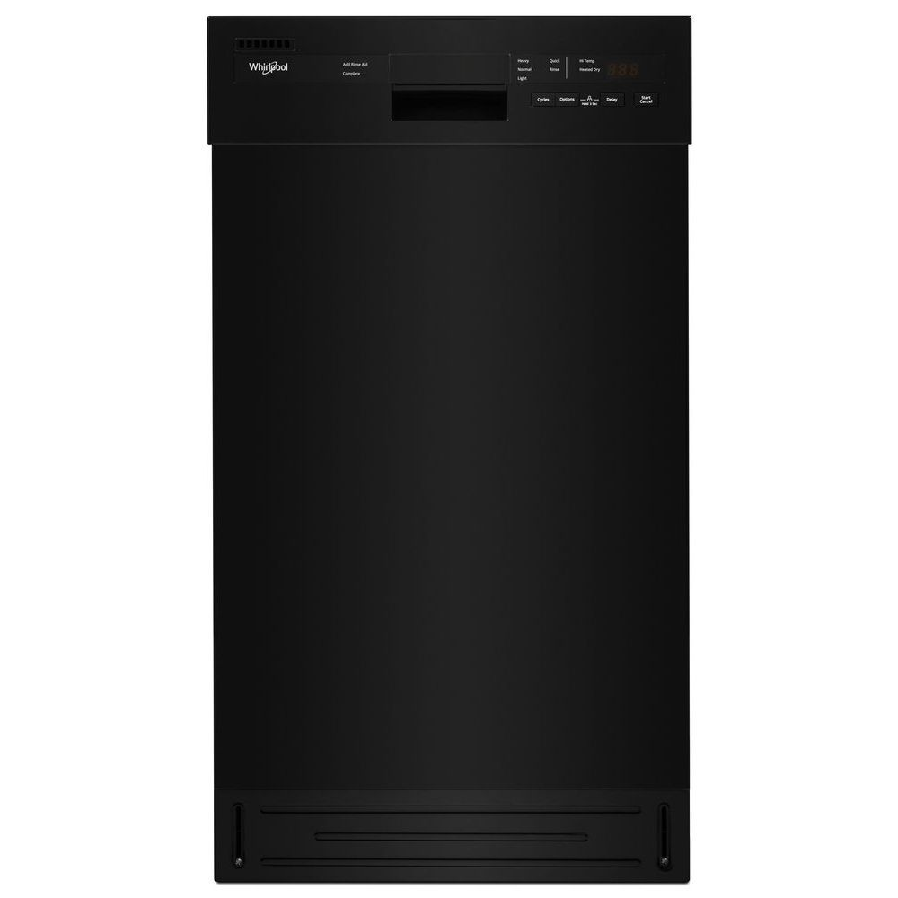 18-inch W Front Control Dishwasher in Black with Stainless Steel Tub, 50 dBA - ENERGY STAR®