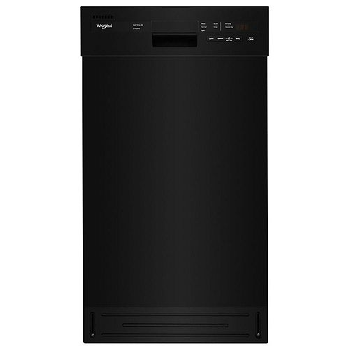 Whirlpool 18-inch W Front Control Dishwasher in Black with Stainless Steel Tub, 50 dBA - ENERGY STAR®