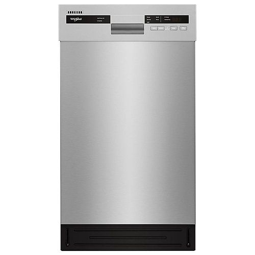 18-inch W Front Control Dishwasher in Stainless Steel with Stainless Steel Tub, 50 dBA - ENERGY STAR®