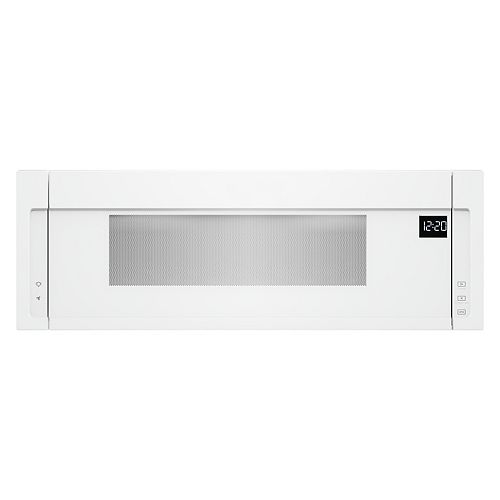 1.1 cu. ft. Low Profile Over the Range Microwave in White